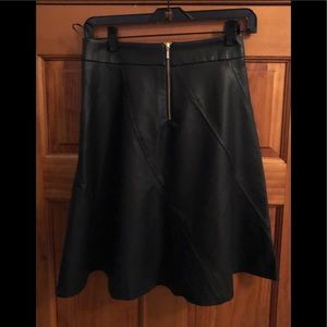The Limited Skirts - The Limited Faux Leather Swing Skirt Petite XS